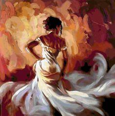 Фламенко в белом - Схемы вышивки - Tanit7509 - Авторы - Портал «Вышивка крестом»
