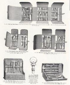 Tool cases in a catalogue from Edwards & Sons, London, 1896-97