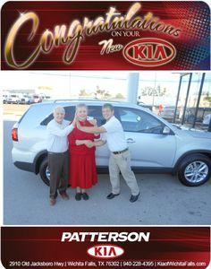 Congratulations to Mr. & Mrs. Dalton on their New Kia Sorento! - From Brandon Warton at Patterson Kia!
