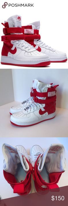 da4498218f9190 SF AF1 Size 9 Air Force 1 University Red High Brand new Air Force Ones No