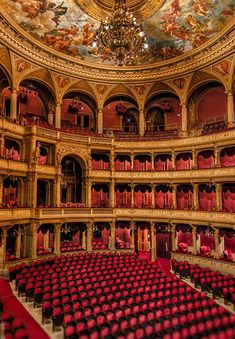 The State Opera House, Vienna. Our first live opera, La Fanciulla Del West was seen here, looking at this photo it is looking at where we sat, the first level above Orchestra section and almost center.