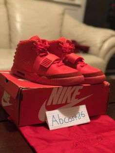 promo code df0f0 d34c1 Nike Air Yeezy 2 Red October Solar Red (Size 8.5)  fashion  clothing  shoes   accessories  mensshoes  athleticshoes (ebay link)