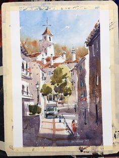 Iain Stewart Watercolors   Last demo in Calella de Palafrugal. What a great group!