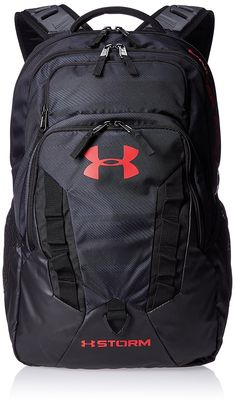 4aa8fe395040 Buy Under Armour Men s UA Recruit Backpack Black Black Red Backpack