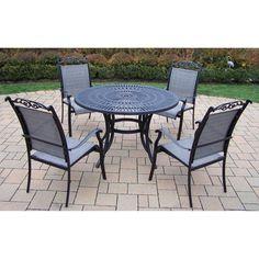 Outdoor Oakland Living Sunray Cascade 48 in. Patio Dining Set - Seats 4 - 2137-10605-C-5-