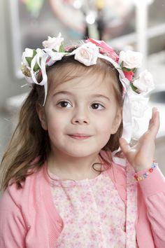 Pink AGATHE Cardigan and Printed Pink Flowers Romper #kidsfashion #cdec_paris