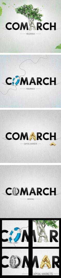 Comarch Logo for Finance by Paweł Skupień, via Behance
