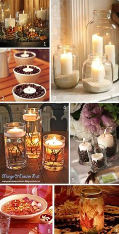 Pretty candle centerpieces!