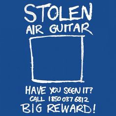 """""""Stolen Air Guitar"""" by Diesel Laws t-shirt, sticker, iPhone & iPod case Music Jokes, Music Humor, Great Music Videos, Good Music, Painting Logo, Music Maniac, Silly Quotes, The Power Of Music, Music Theory"""