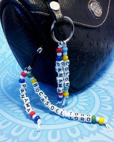 Keyring / Bag and Purse Charm Strap/ Zipper Pull by QueXopaPanama