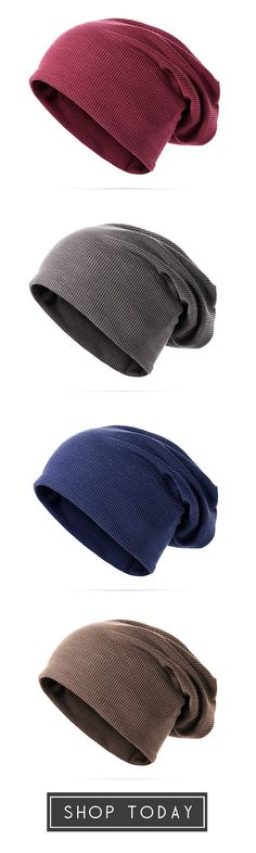 63%OFF&Free shipping. Men's Cap, Unisex Solid Cotton Beanie Caps, Multifunction Both Use Skull Hat And Collar Scarf. Shop now~