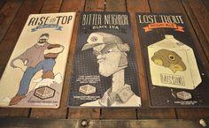 Gaslight's tin plates design #beer #branding