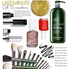 #668: PolyPresents: Last-Minute Gifts by mayblooms on Polyvore featuring polyvore, beauty, Bobbi Brown Cosmetics, Burberry, Essie, contestentry, inmymakeupbag and polyPresents
