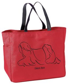 Lhasa Apso Gaiting Tote Bag by WryToastDesigns on Etsy, $15.99