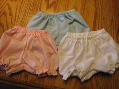 3 Pair of Cotton Panties fits the Bitty Baby doll and others her size