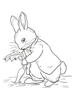 Peter Rabbit Stealing Carrots coloring page from Peter Rabbit category. Select from 22641 printable crafts of cartoons, nature, animals, Bible and many more.