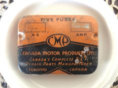 Rare Find 1920s Canada Motor Products Ltd. (CMP) Fuses & Tin - General Motors - Vintage Car Parts Vintage Tins, Vintage Labels, Vintage Postcards, Good Find, Lazy Sunday, Tin Boxes, General Motors, Car Parts, Vintage Advertisements