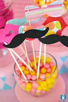 Candy buffets and party ideas / Hostess with the Mostess® - Whimsical Big Top Circus Party Mustache Birthday, Mustache Party, Carnival Birthday, 2nd Birthday Parties, Birthday Ideas, Kid Parties, Birthday Stuff, Circus Carnival Party, Carnival Themes