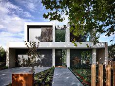 Contemporary Home Builders Melbourne, Residential Architecture Construction Melbourne Townhouse Designs, Duplex House Design, Modern House Design, Residential Architecture, Architecture Design, Villa, Facade House, Design Case, Home Fashion