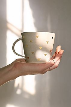 Pickle Pottery Heart Mug