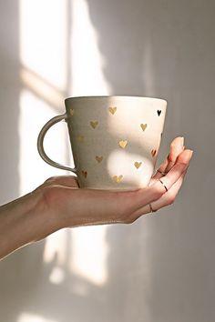 UO Pickle Pottery Heart Mug