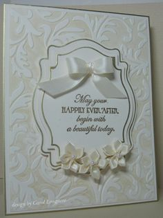 The TLC361 challenge  today was to create a Belleek Pottery inspired card. I know I'll be needing a wedding card in a couple weeks, so thi...
