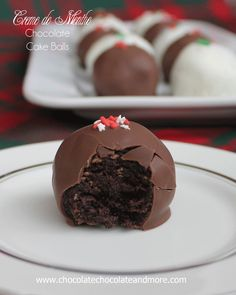 Creme de Menthe Chocolate Cake Balls, perfect for any party!