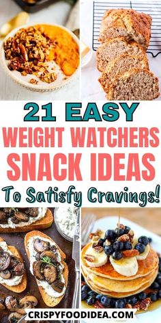 Easy Homemade Recipes, Ww Recipes, Healthy Dessert Recipes, Appetizer Recipes, Healthy Snacks, Desserts, Weight Watchers Pancakes, Weight Watchers Snacks, Weight Loss Snacks