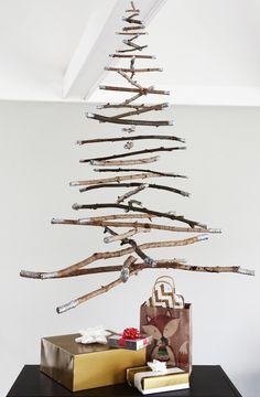 How-to: Hanging Twig Christmas Tree