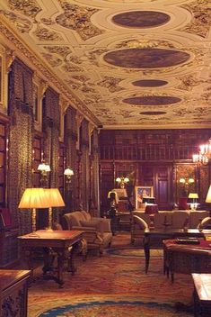 Interior Chatsworth house library