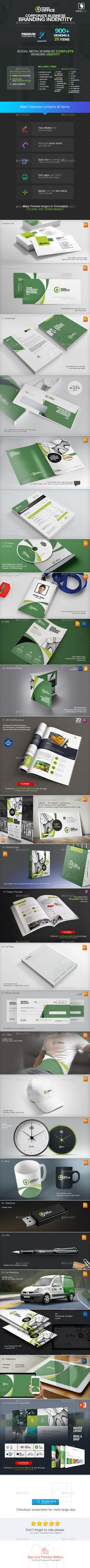 Corporate Business Branding Identity Template PSD, Vector EPS, InDesign INDD