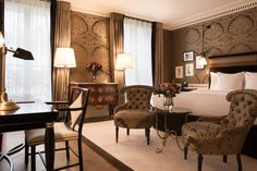 Numerous antiques feature throughout the newly opened La Reserve Paris.