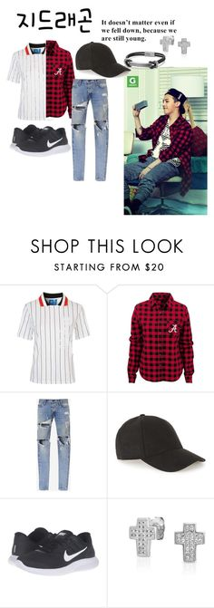 """Gdragon Preppy"" by roseyfox ❤ liked on Polyvore featuring Topshop, Topman, NIKE, Bling Jewelry, David Yurman, men's fashion, menswear, plaid and WardrobeStaples"