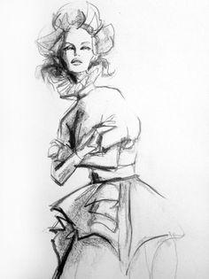 #Graphite #fashion #illustration by Lara Wolf