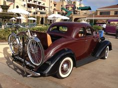 1936 Plymouth and 1937 Huffman bicycle