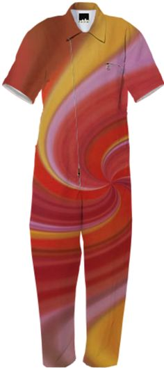 red swirl by Tutti from Print All Over Me