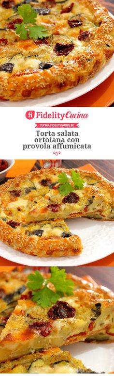 Torta salata ortolana con provola affumicata Quiche, Cooking Time, Cooking Recipes, Salty Cake, Antipasto, Food Photo, Finger Foods, Vegetable Pizza, Food Art