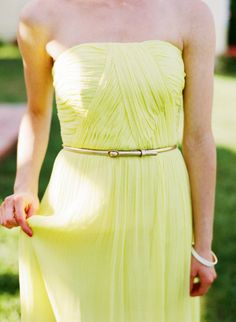 a bridesmaid dress reminiscent of limoncello   Photography By / katiestoops.com, dress by http://www.donna-morgan.com/