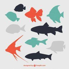 Siluetas de peces planos