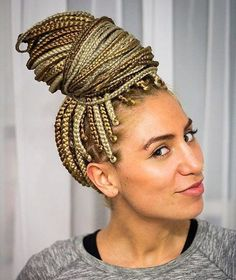 Two-tone blond braids