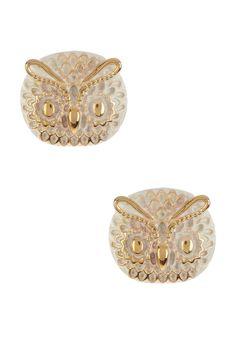 Owl Face Earrings