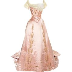 metmuseum.org - edited by Satinee ❤ liked on Polyvore featuring dresses, gowns, vestidos, long dress, long dresses, pink ball gown, pink dress, pink evening gowns ve pink gown