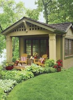 Backyard guest houses on pinterest guest house cottage for Backyard guest cottage plans