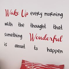 Wake Up Wall Quote Decals - wallquotes Wake Up Quotes, Home Quotes And Sayings, Wall Quotes, Cute Quotes, Words Quotes, Wise Words, Quotes To Live By, Motivational Quotes, Inspirational Quotes
