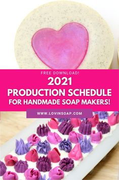 We love providing soap makers with free downloads for soap recipes, essential oil blends and soap tips & tricks! The 2021 Soap Making Production Schedule for handcrafted soap makers is delivered as a zip file with both a PDF download and an Excel spreadsheet, so you can update and tailor as needed. Know when to have your soap supplies ready, start production, and have your beautiful handmade soap ready for selling for major U.S. Holidays and seasons. Summer Color Palettes, Soap Supplies, Christmas Soap, Soap Maker, Natural Soaps, Cold Process Soap, Soap Recipes, Free Downloads, Home Made Soap