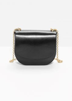 & Other Stories   Chained Leather Saddle Bag