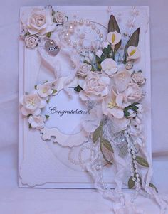 Card: Wedding Card Bouquet by Shabbypinkhouse on SBC