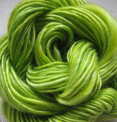 Lime Blossom Fairy Handspun Tencel Yarn by Syrendell on Flickr
