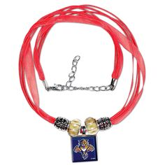 Florida Panthers Women's Ribbon Bead Necklace - Red - $17.59