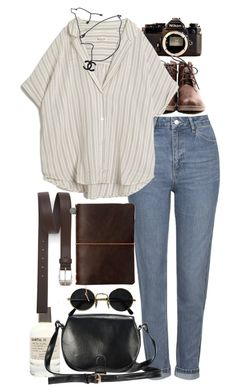 """Inspired for what to wear on a roadtrip"" by nikka-phillips ❤ liked on Polyvore featuring Nikon, Topshop, MASSCOB, Le Labo, Chanel and Paul Smith"